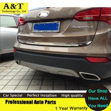 Chrome Rear Trunk Lid Cover trim 2013 2014 2015 Hyundai Santa Fe IX45 chrome stickers car styling - OWL-Automotive Factory Store store
