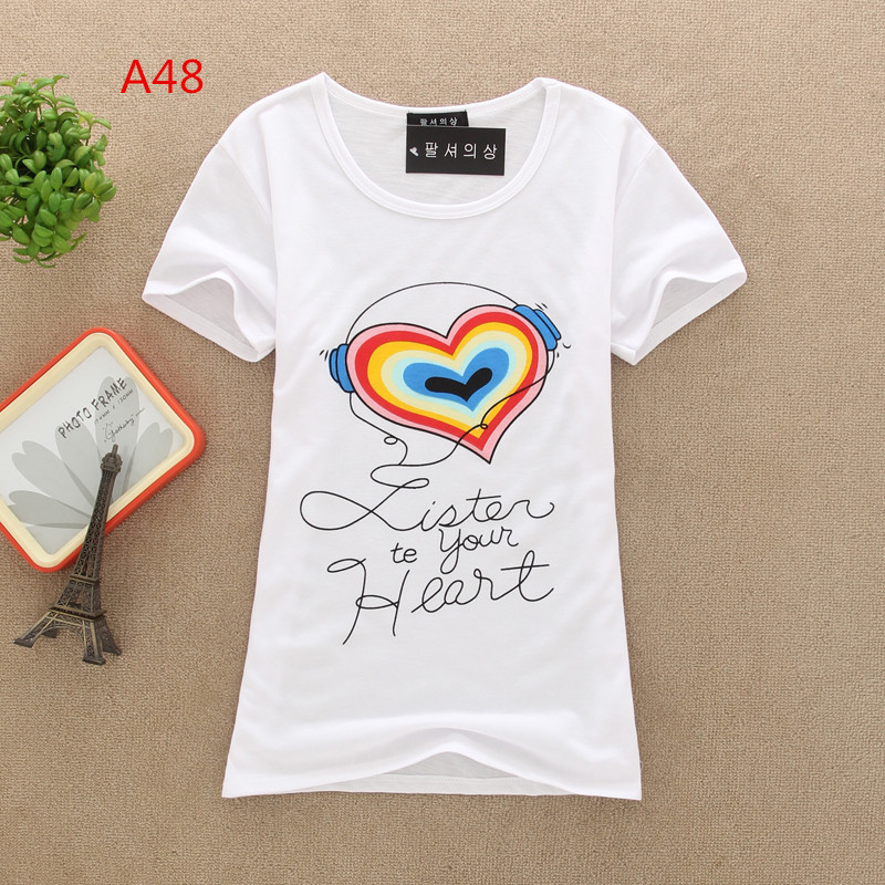 New wholesale! fashion tops Simple and elegant womens Letter Printed short sleeve t shirt T-shirt dropshipОдежда и ак�е��уары<br><br><br>Aliexpress