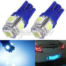 10Pcs Big Promotion Ice Blue T10 501 194 168 W5W 5 SMD 5050 LED Car Auto Side Wedge Light Parking Lamp Bulb DC12V(China (Mainland))