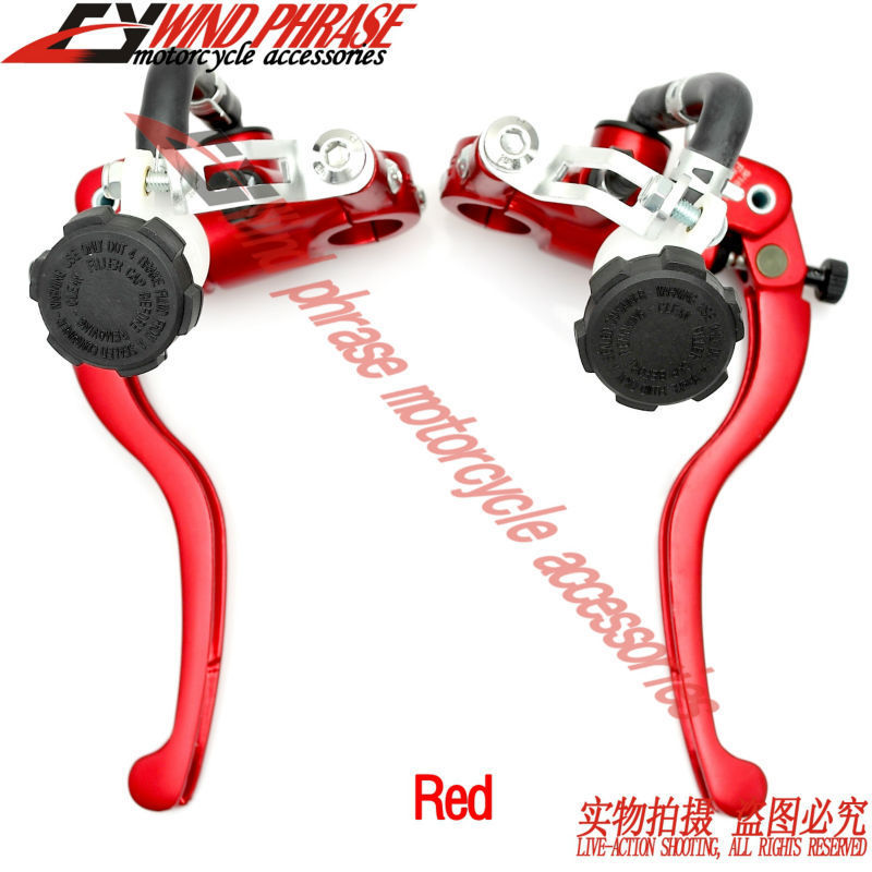 "Red Motorcycle 7/8""22mm Handlebar Brembo Brake Clutch Master Cylinder Levers For Harley Honda Suzuki Kawasaki Yamaha Ducati(China (Mainland))"