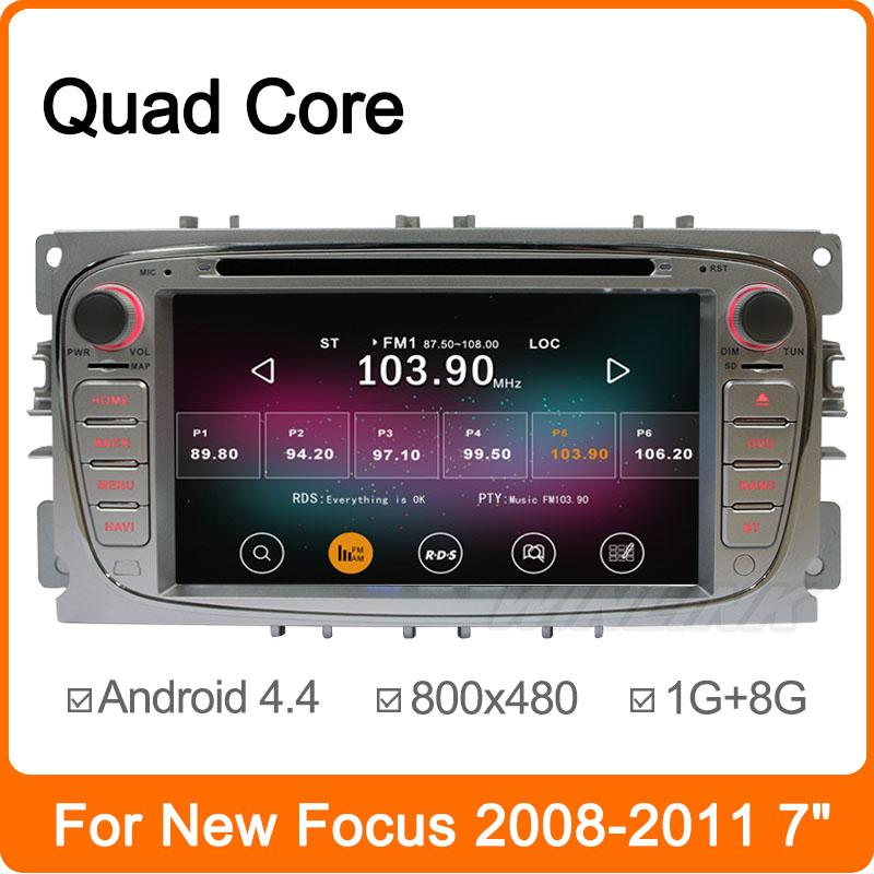 Quad Core CPU Cortex A9 1.8GHz Android 4.4 PC Car DVD Player For Ford Focus Smax Mondeo with GPS Navigation Radio Stereo Canbus(China (Mainland))