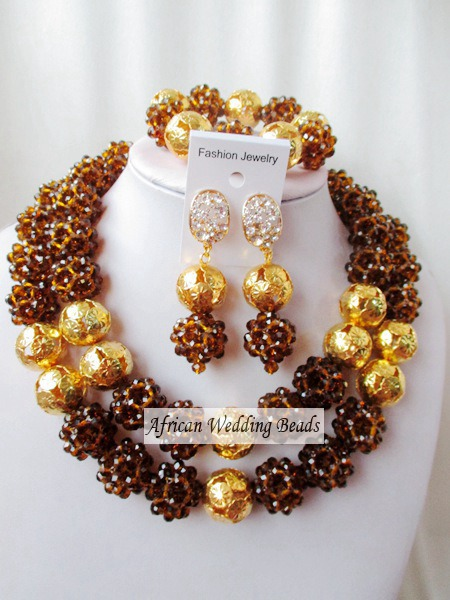 Fashion new african beads Jewelry set crystal beads necklace set nigerian wedding african jewelry set free shipping  WI-2218<br><br>Aliexpress