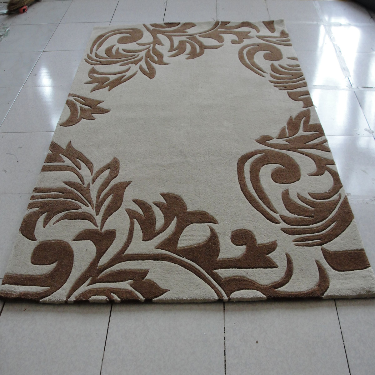Buy Brief Fashion Handmade Polyacrylonitrile Fiber Carpet Living Room Coffee Table Bed Blankets
