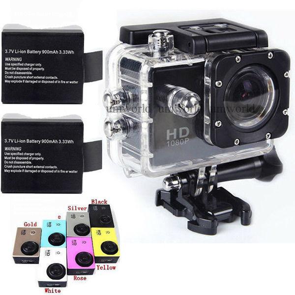 GoPro hero 3 style SJ4000 go pro camera 30M Waterproof 1080P Full HD DVR Sport action Camera two battery(China (Mainland))
