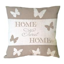 Sweet home with butterfly printed throw pillow cover