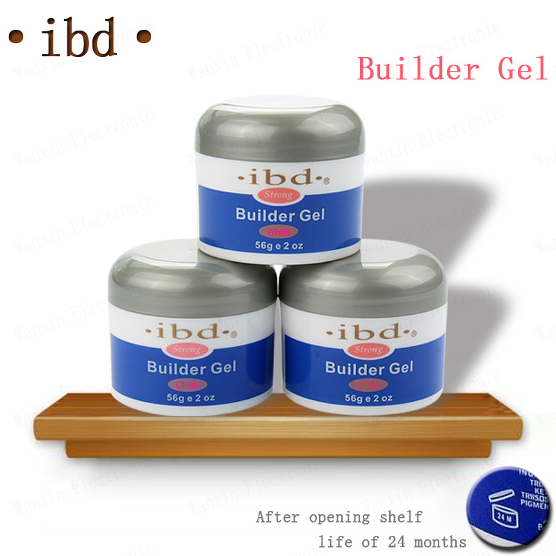 3 color IBD Builder Gel 2oz / 56g - Strong UV Gel Pink Clear White for nail art false tips extension NA394(China (Mainland))