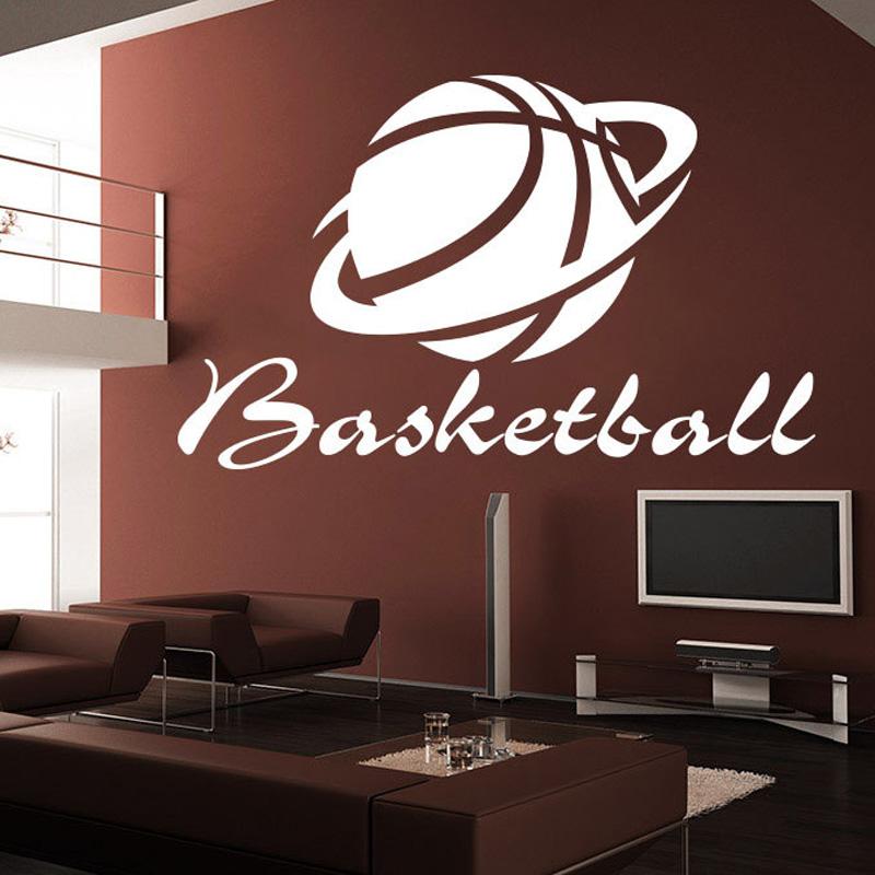 Popular basketball window decals buy cheap basketball for Sports decals for kids rooms