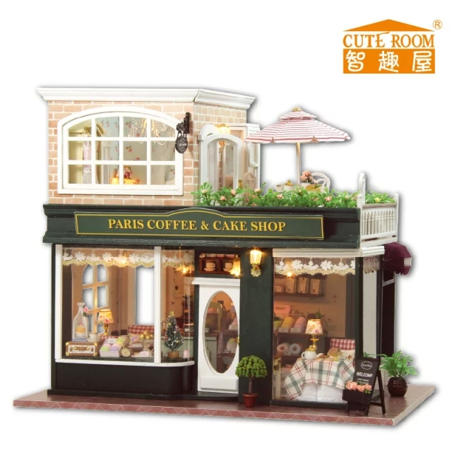 Doll House Cake Images : Paris coffee & cake shop France style Large DIY Doll house ...