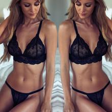 Women Sexy Lingerie Nightwear Lace Dress Sleepwear Bra G-String Underwear S QH1