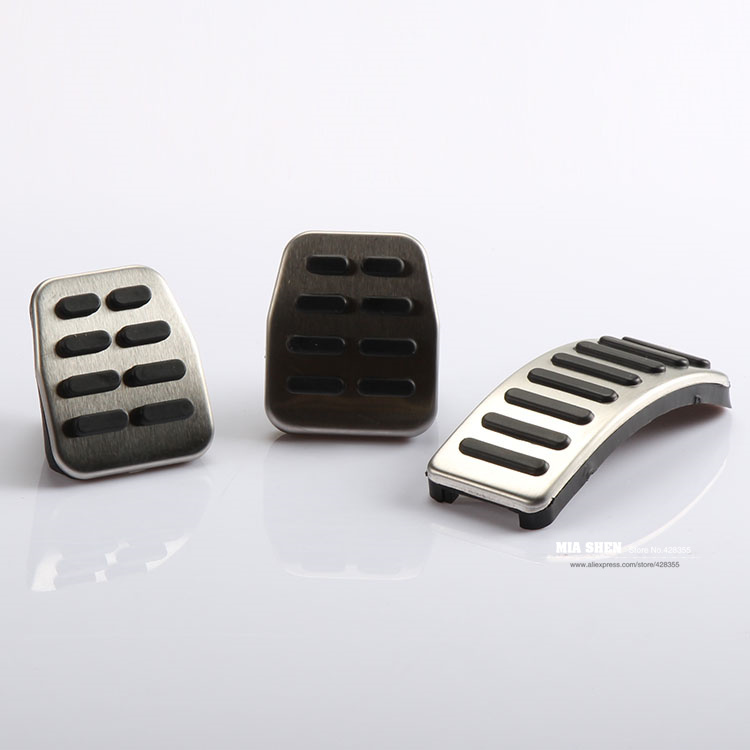 Stainless Car pedal Cover for MT Volkswagen VW Polo Bora Lavida Golf MK4 New Beetle Jetta Santana Clutch Gas Brake pedals Pads(China (Mainland))