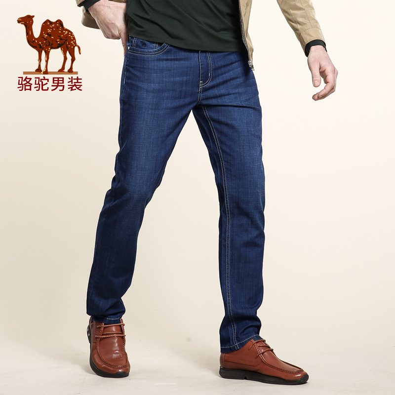 Camel mens jeans 2016 spring new micro-bomb straight whiskers in waist trousers zipper jeans male X6X269110Одежда и ак�е��уары<br><br><br>Aliexpress