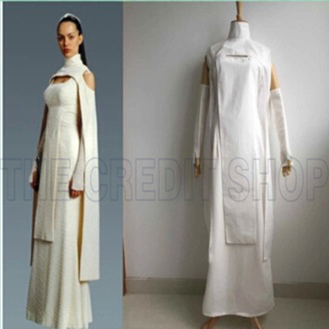 Dress Mantle White Long