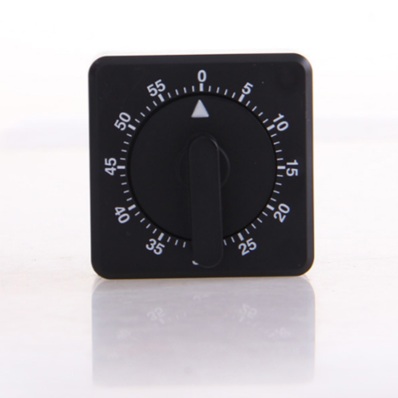 60 Minute Kitchen Timer Alarm Clock Mechanical 1 Hour Countdown Cooking Timer Reminder Counting For Kitchen White Square(China (Mainland))