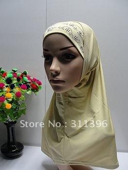 2-pcs set embroidered higabs with diamond,hot sale muslim hijab,new arrival hijab,long muslim scarves,islamic scarf AH092408