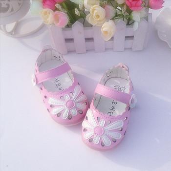 Led Light Toddler Baby Shoes for Girls Lighting Children Kids Girl Shoes Leather Flower Design