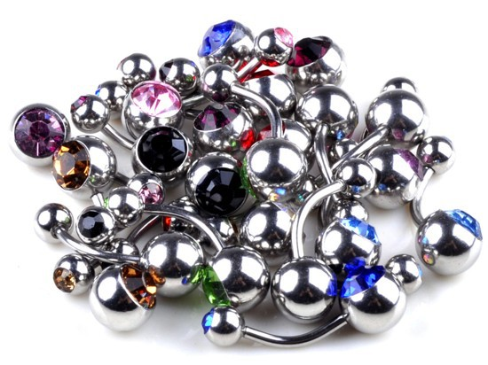 e Lot 1Steel Crystal Belly Button Navel Ring Body Piercing Jewelry - Li juan Jewelry---((No Minimium store)
