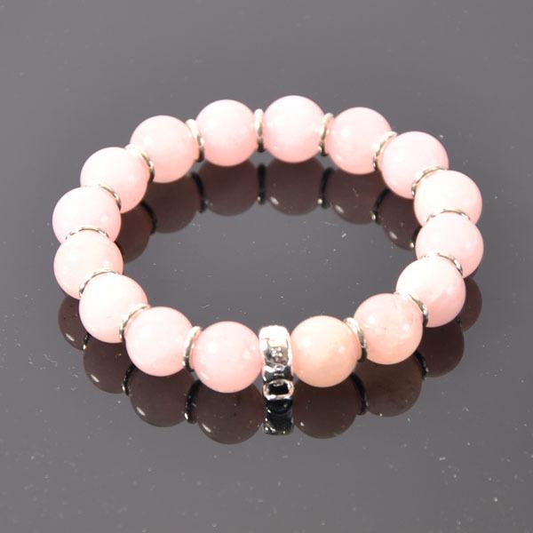 Charm Bracelets -- 10mm Natural Rose Quartz 925 Silver Bracelets TS XB046-9(China (Mainland))