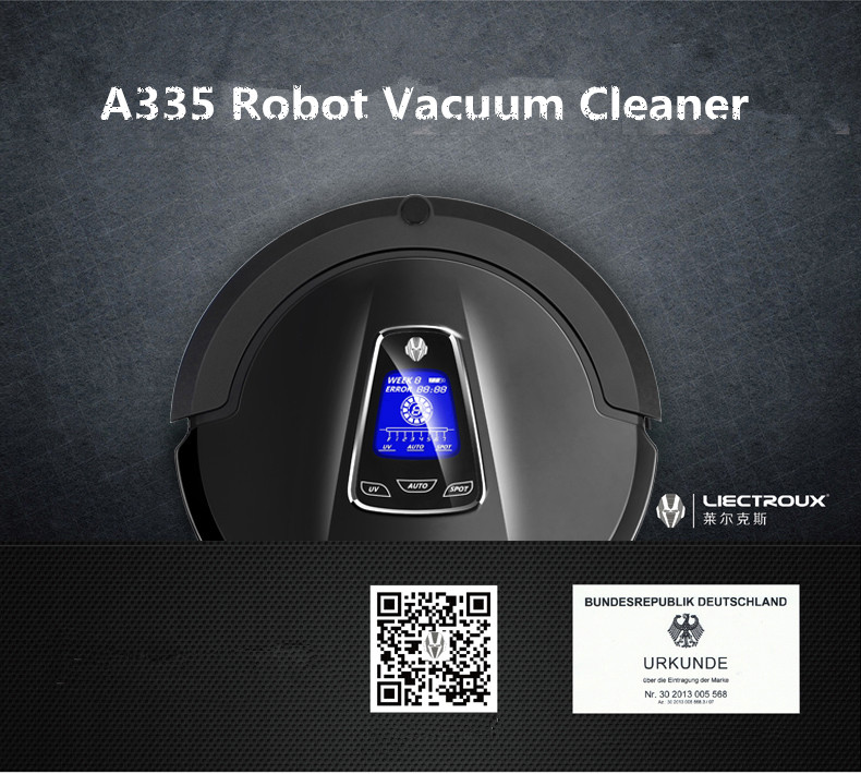 High-end Multifunctional Robot Vacuum Cleaner (Sweep,Vacuum,Mop,UV Sterilize),Touch Screen,Schedule,2Way VirtualWall,Auto Charge(China (Mainland))