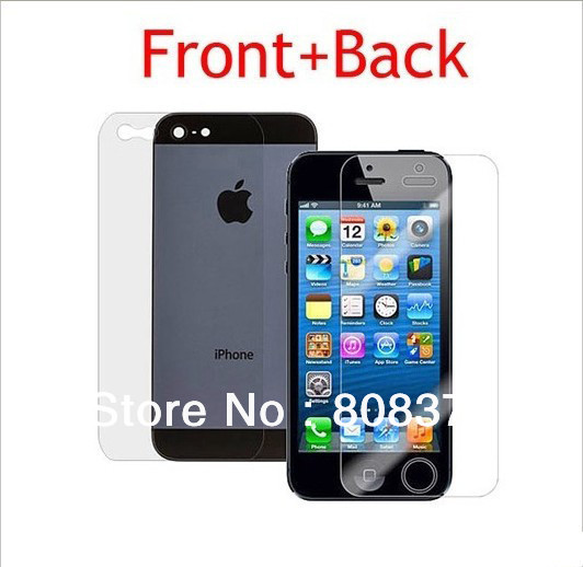 iphone5 5G 5S Full body Front+Back Clear Screen Protector,Screen Protective Film - ShenZhen HongTai Electronics CO.,LTD store