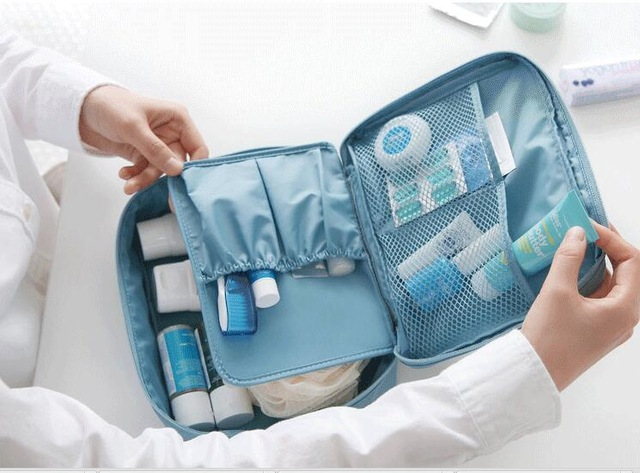 Portable refillable bottle kit Travel pouch wash bag waterproof suit small bottles of shampoo/cosmetic/cream free shipping(China (Mainland))