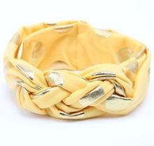 Топ для новорожденных девочек тюрбан из хлопка ткань эластичная лента для волос в горошек головные уборы с бантом тюрбан детские повязки дл...(China)