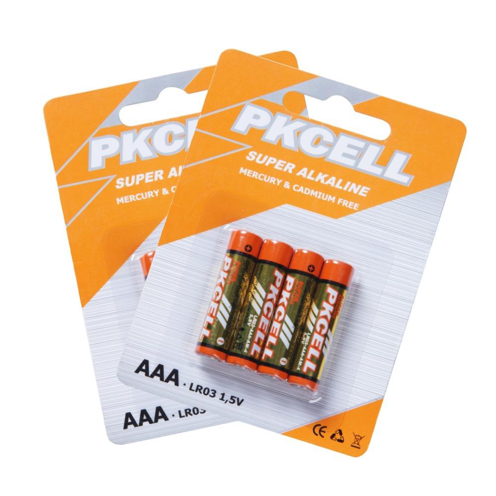 8Pcs (2card)1.5V AAA size LR03 UM4 AM4 Alkaline Dry Battery AM-4(China (Mainland))