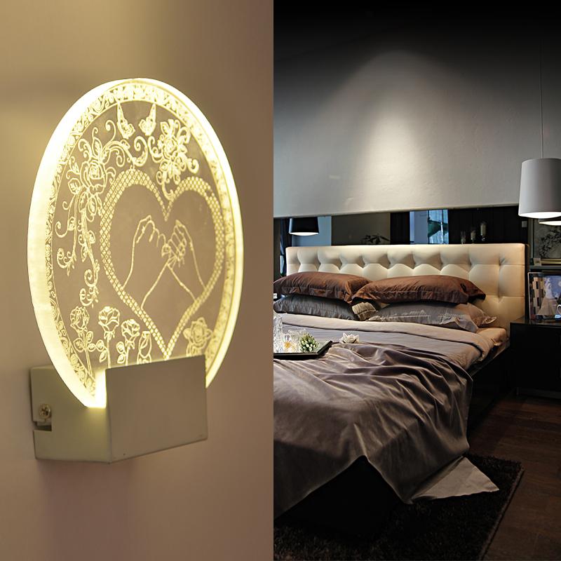 NEW Acrylic wall lights modern brief living room lights wall lamp corridor wall lamp led wall lamp Love a wedding gift