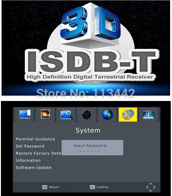 2014 ISDB-T Tuner digital tv receiver MPEG-2/MPEG-4 AVC/H.264 Video for Brazil Argentina Chile Air Channels 1080p HDMI Video