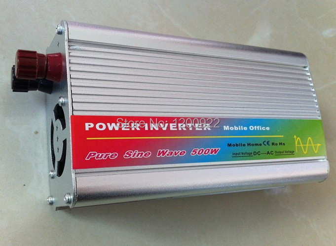 DHL Fedex UPS express 1000w peak Pure Sine Wave 500W Power Inverter Converter DC 12V to AC 110V or 220V(China (Mainland))