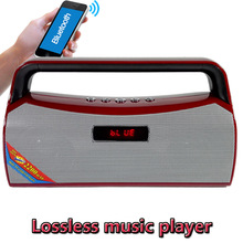 Wholesale APEFLACWAVMP3WMA Lossless Music Player Portable Bluetooth Speaker Mini FM Radio USB TF With Mic HIFI MP3 Player