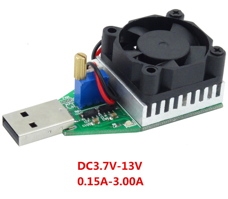10pcs/lot DC3.7V-13V 0.15A-3.00A Electronic Load USB Adjustable Constant Current Electronic Load 15 W <br><br>Aliexpress