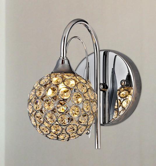Promotional Brief K9 Crystal Wall lamp art Bedroom Mirror Light Sconces G9 220V 110V Discount - Ala Lighting Corporation store