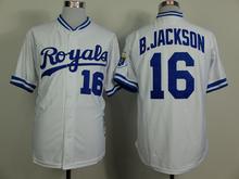 # 16 Bo Jackson jersey Kansas City Royals 2015 World Series Champions patch blue white grey size extra Small S 46 M - 4XL 58(China (Mainland))