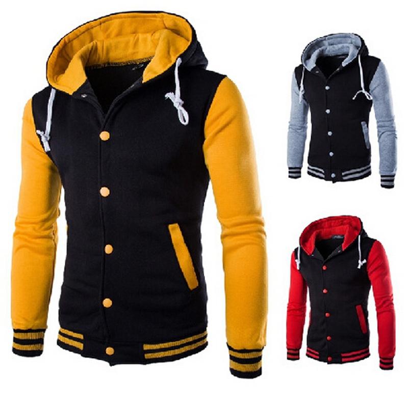 Men's Spring Men's Eight-Color Hooded Sweater Jackets BaseBall Shirts Hoodies Sweatshirts U026(China (Mainland))