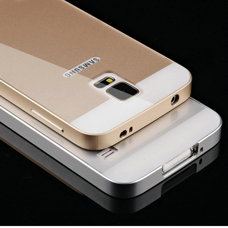 Luxury Aluminum Case for Samsung Galaxy S5 i9600 Caso Capa Full Protective Aluminum Frame+PC Cover(China (Mainland))
