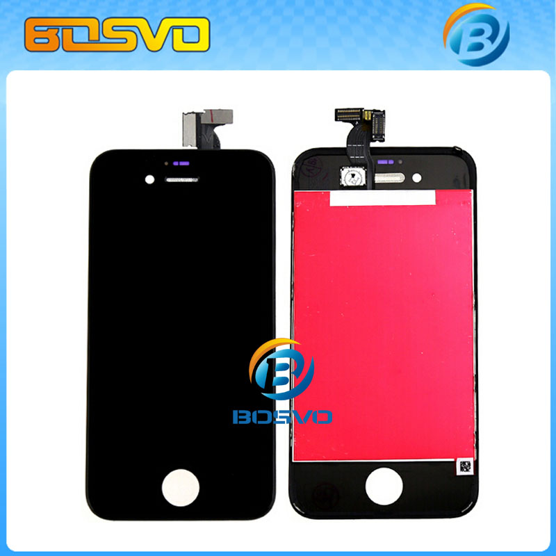 100 Tested replacement for iPhone 4 lcd 4g display screen with Touch digitizer with Frame black or white one piece free shipping(China (Mainland))