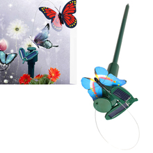 Random Color Garden Decoration Solar Powered Dancing Flying Butterfly Toy HB88(China (Mainland))