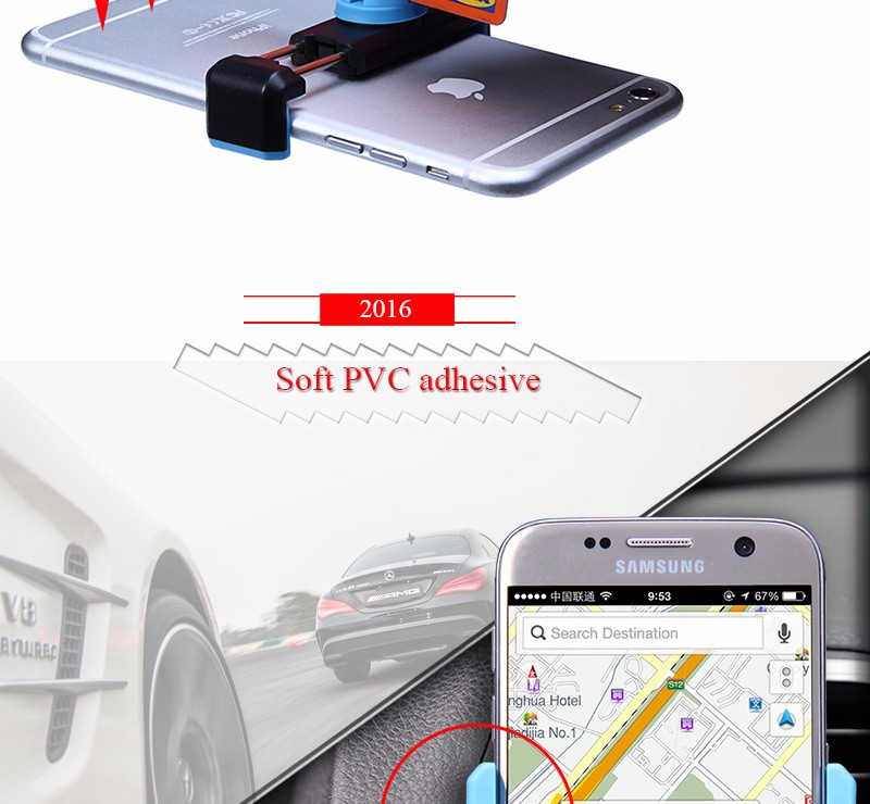 6″ Universal Mobile Car Phone Holder For iPhone Samsung Xiaomi HTC Sony 360″ Adjustable Air Vent Mount Stand i Phone Accessories