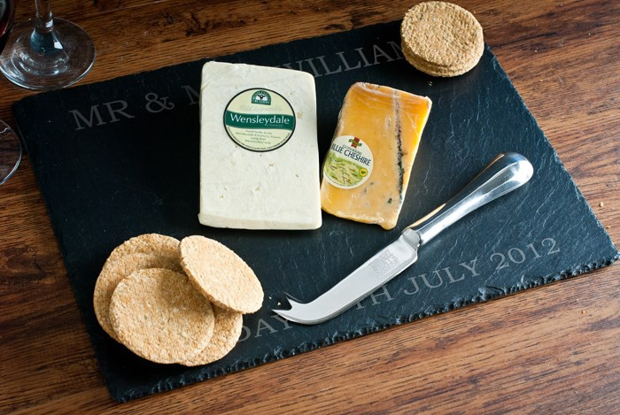 Personalised Wedding Gifts Express Delivery : FREE SHIPPING Personalised Wedding Slate Cheese Board new idea gift ...