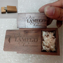 Wedding Photography Gift Customized ODM LOGO Walnut Wooden Usb 2.0 Memory Stick Flash Pen Drive 4gb-32gb ( 20 Pcs Free Logo )(China (Mainland))