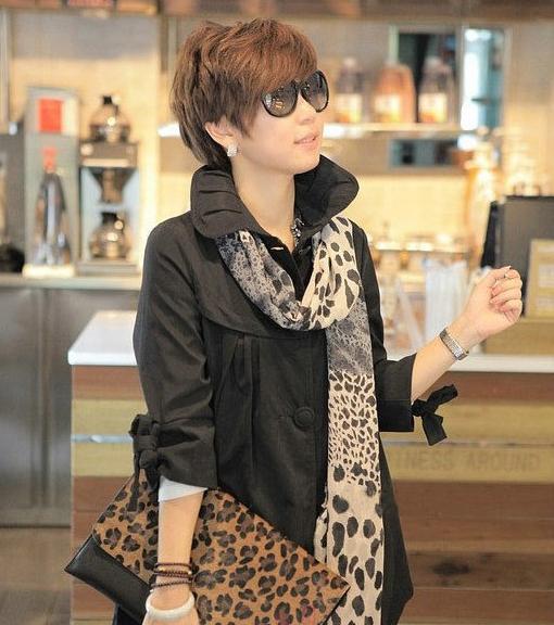 Бесплатная доставка шелк шали обруча шарфы шелковистой ретро классический леопард тень искусственного прямая поставка