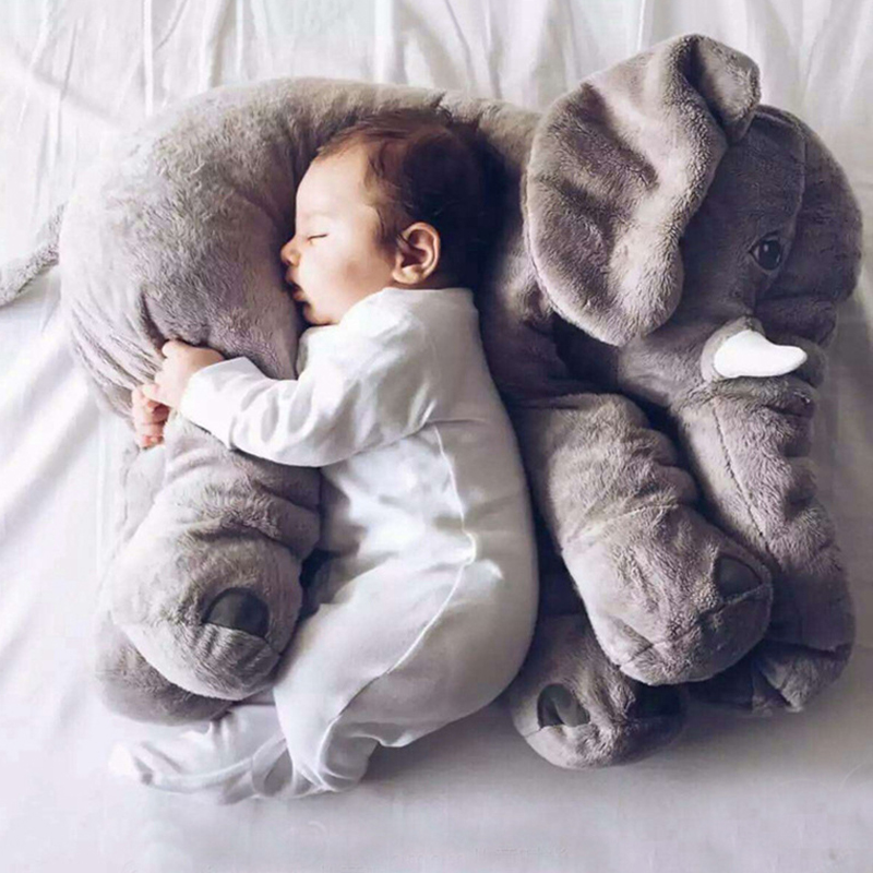 2016 baby plush toys elephant plush doll baby animal stuffed plush pillow with long nose cute kids toys room bed soft toys(China (Mainland))