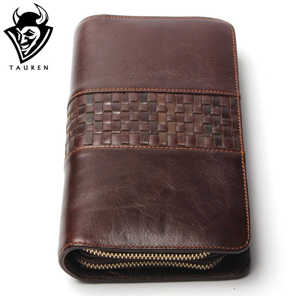 New Top Fasion Free Shipping Genuine Cow Leather Clutch Bags Wallet Envelope Carteiras Credit Card Holder Men's Vintage Wallets(China (Mainland))