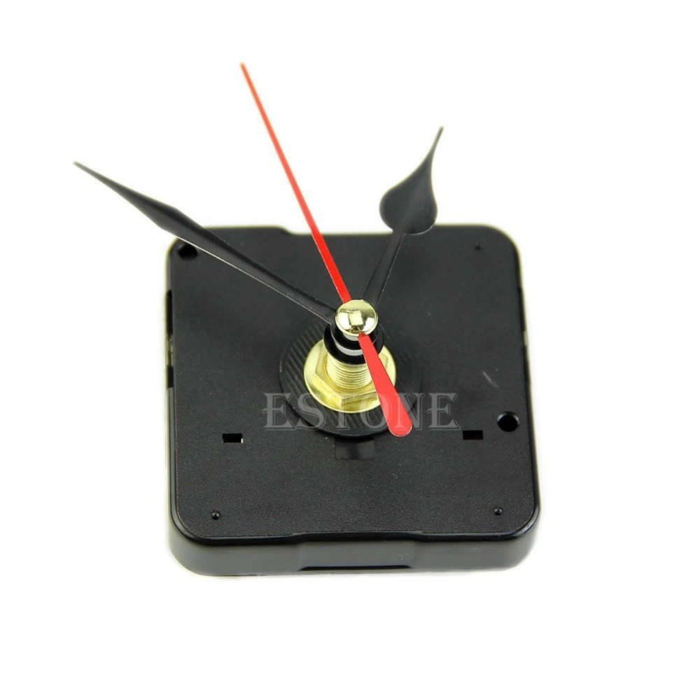 Free shipping Quartz Wall Clock Movement Mechanism Repair Tool Kit with Black & Red Hands(China (Mainland))