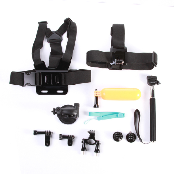 6 Pieces Camera Combo Accessories For GoPro 1 2 3+ 4 Handheld Telescopic Monopod+Suction Cup Mount Holder+Tripod Adapter Kits<br><br>Aliexpress