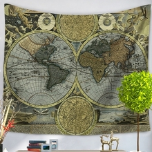wall hanging tapestry vintage world map tapestry bedspread living room dining room art wall decor tapestries