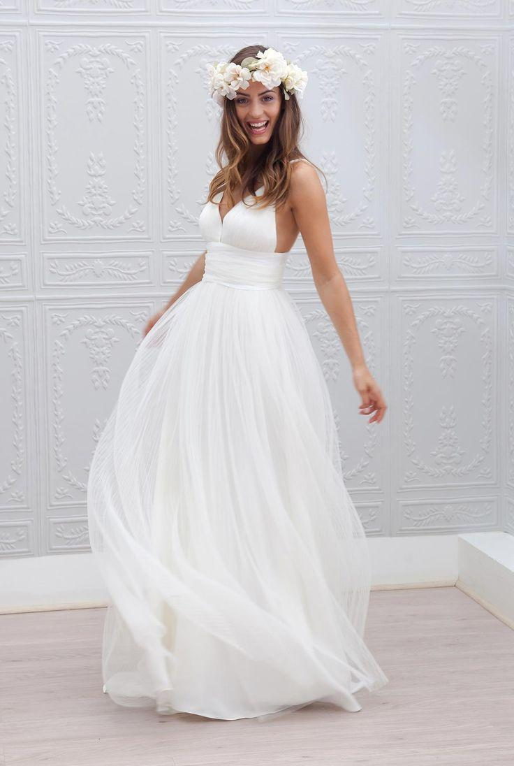Stylish Beach Wedding Dresses : Beach wedding dresses spaghetti straps pure white ruched