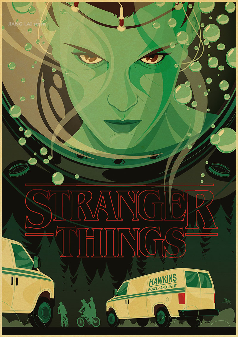 Stranger Things Propaganda Terror Posters Vintage Retro Adornment Poster Marvel Home Decor Character Classic Movie
