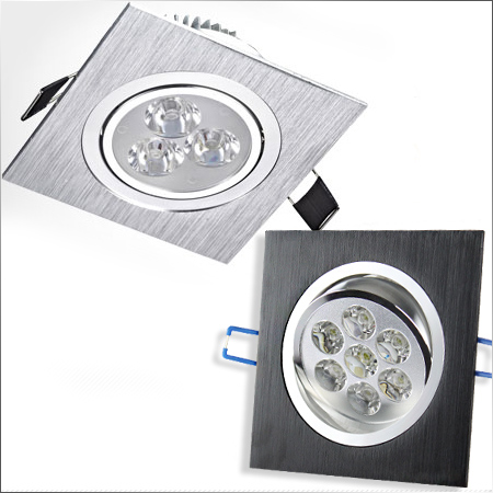 Hot sell 3W AC85~220V LED Spotlights Square Led Ceiling Spot Recessed Grille Lamp Living Room TV Wall Cabinet Mirror Light(China (Mainland))