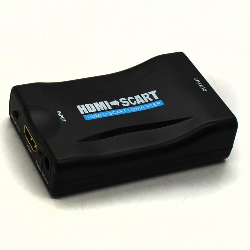 New HDMI to SCART Composite Video Converter Stereo Audio Adapter SKY HD Blu-Ray(China (Mainland))